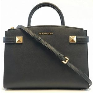 💯Brand new Karla soffiano leather Black Sachel💯